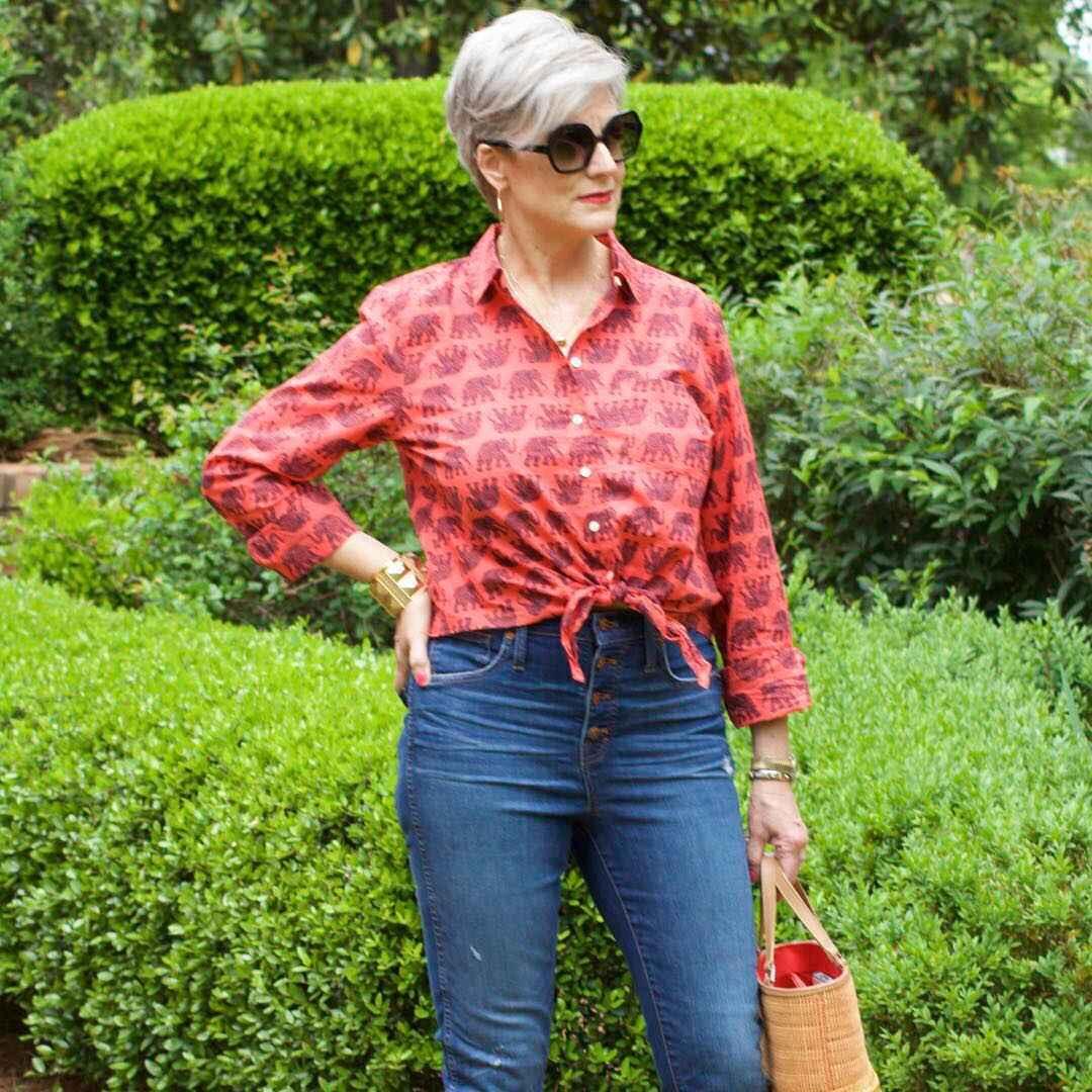 рубашки и блузы для женщин 50 лет 2019 фото_11