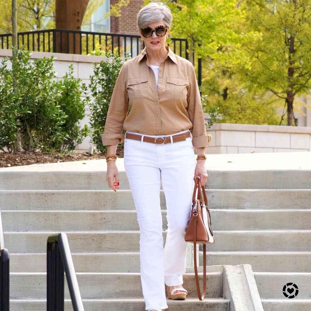 рубашки и блузы для женщин 50 лет 2019 фото_10