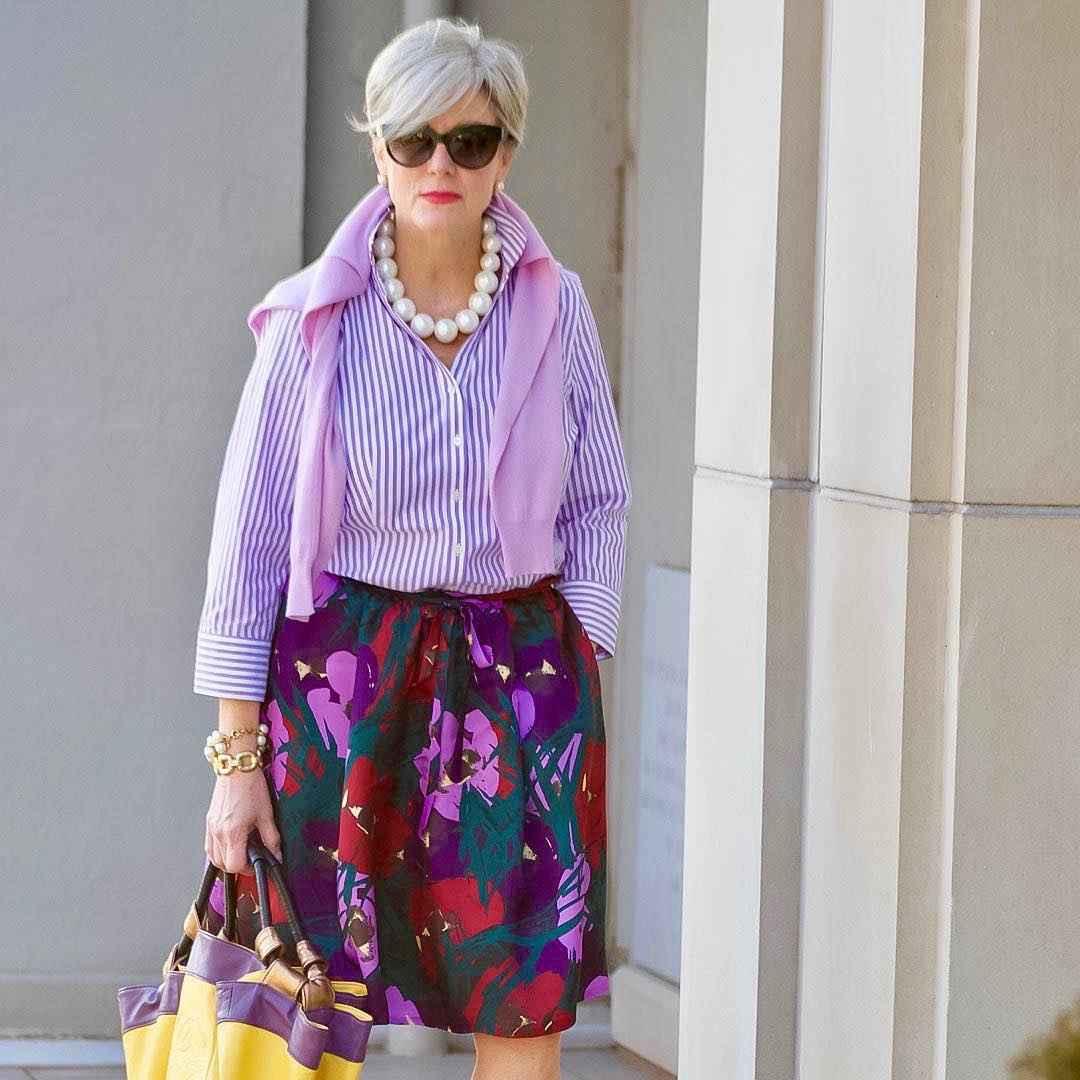 рубашки и блузы для женщин 50 лет 2019 фото_5