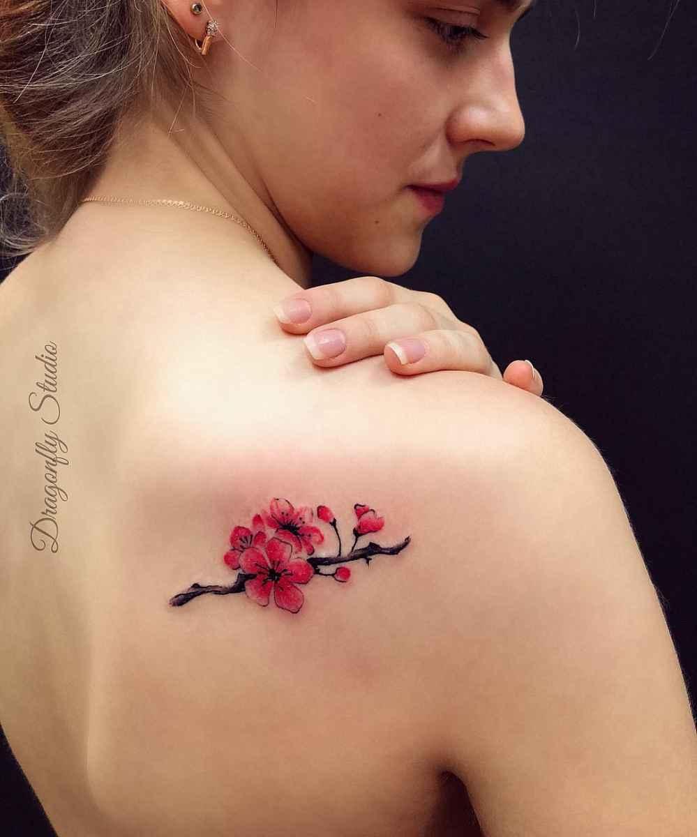 женское тату сакура фото_18
