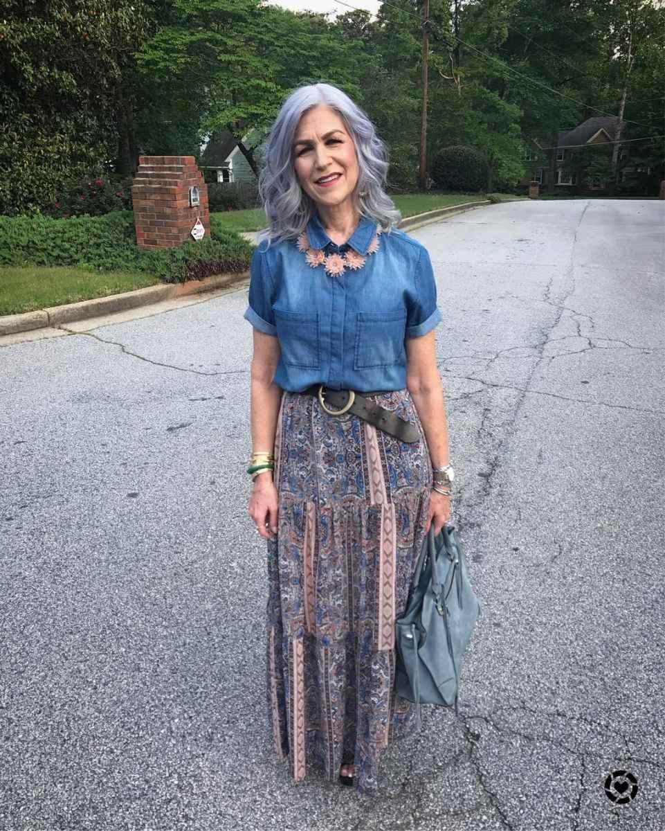 рубашки и блузы для женщин 50 лет 2019 фото_29