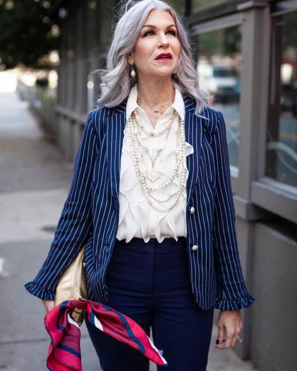 рубашки и блузы для женщин 50 лет 2019 фото_26