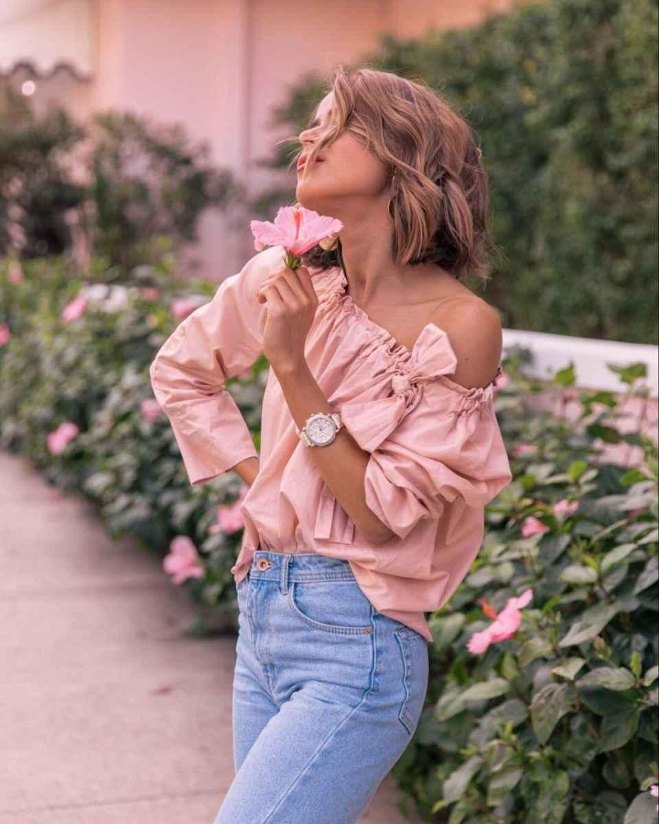 Красивые образы с блузами и рубашками 2019 фото_2