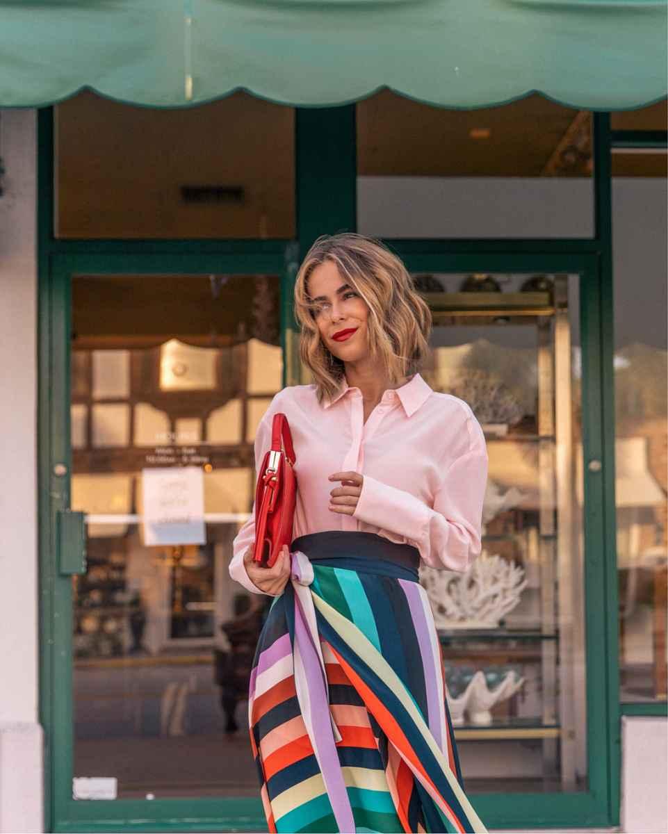 Красивые образы с блузами и рубашками 2019 фото_4