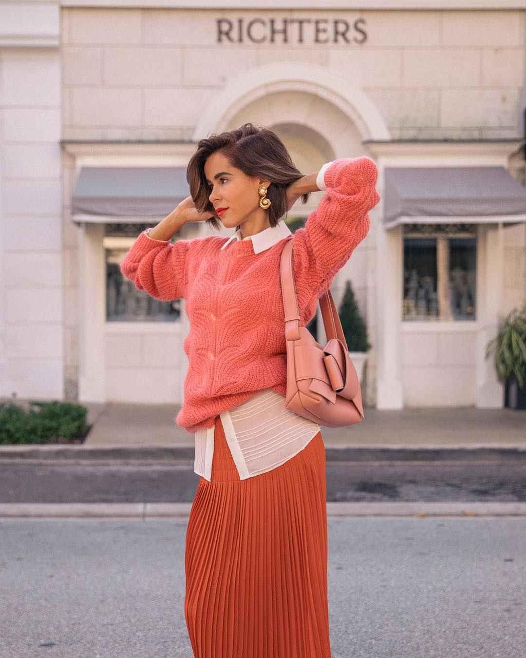 Модные деловые образы с юбкой 2019-2020 фото идеи_12
