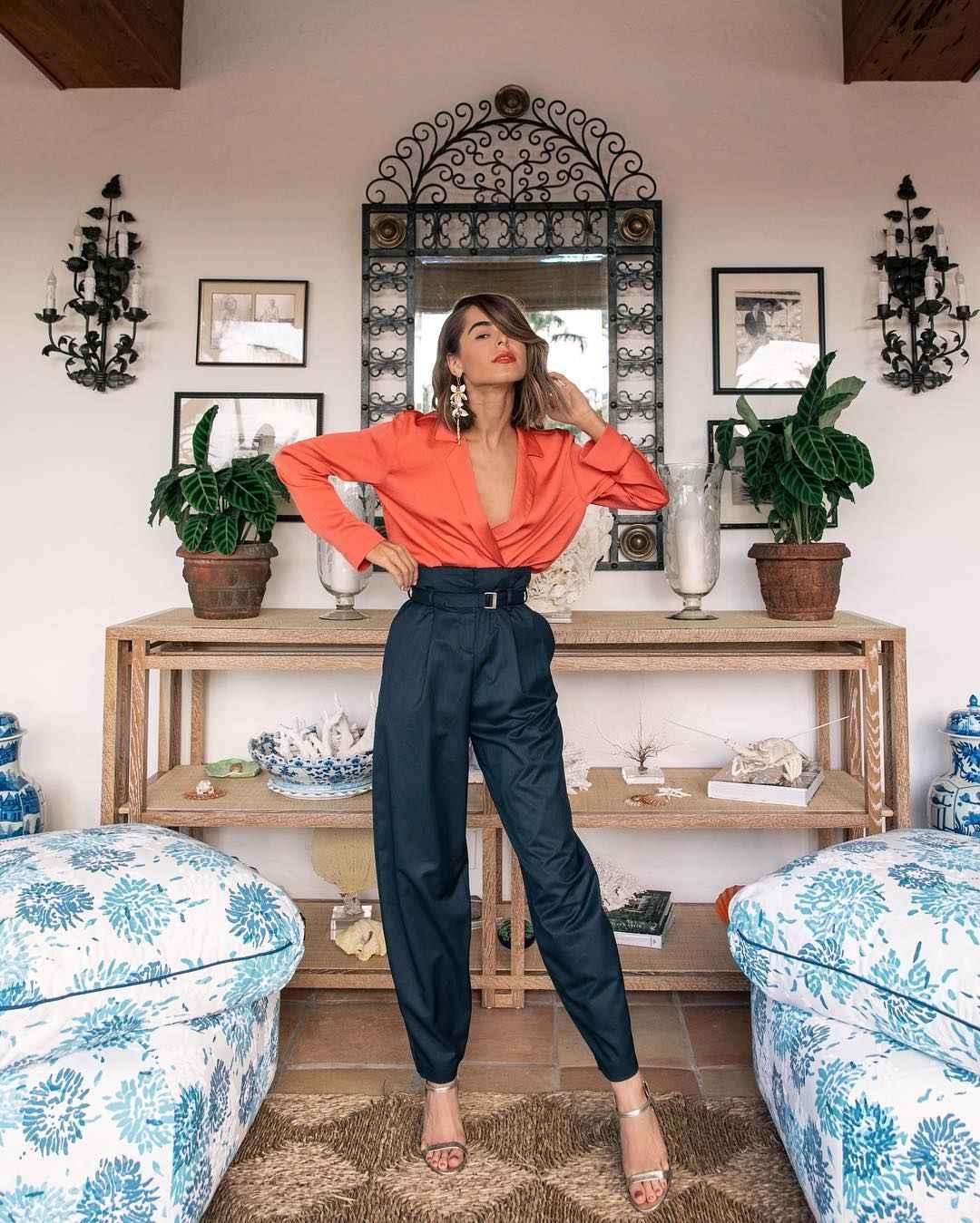 Модный офисный стиль 2019-2020 с брюками фото идеи_20