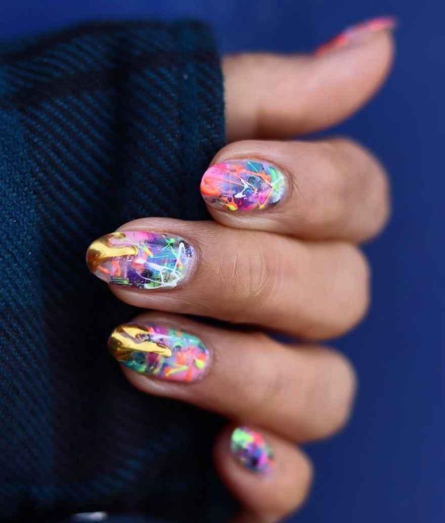 Маникюр на короткие ногти весна 2020 фото_46
