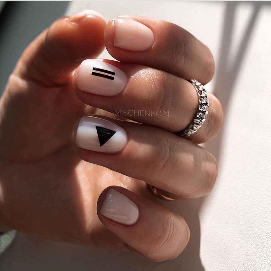 Маникюр на короткие ногти весна 2020 фото_45