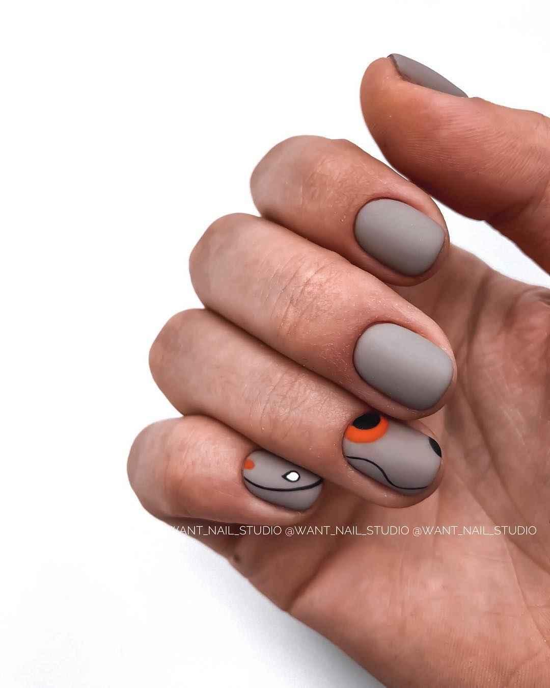 Маникюр на очень короткие ногти фото_16