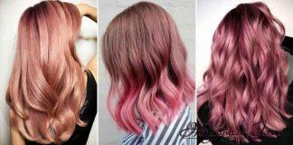Окрашивание волос розовое золото фото