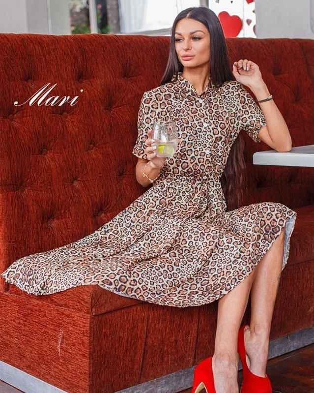 Платье с леопардовым принтом фото_2