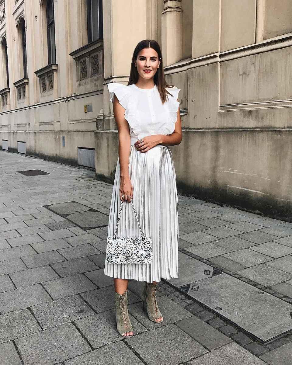 Плиссированная юбка фото_3