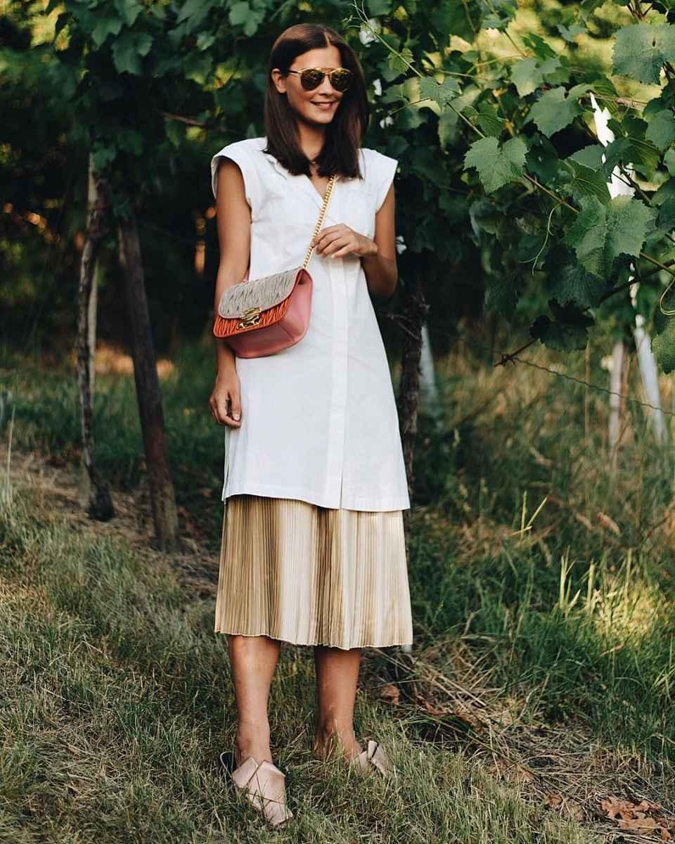 Плиссированная юбка фото_4