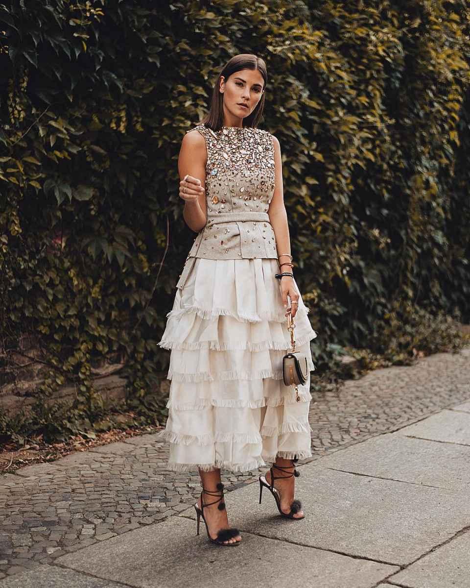 юбка с воланами фото_4