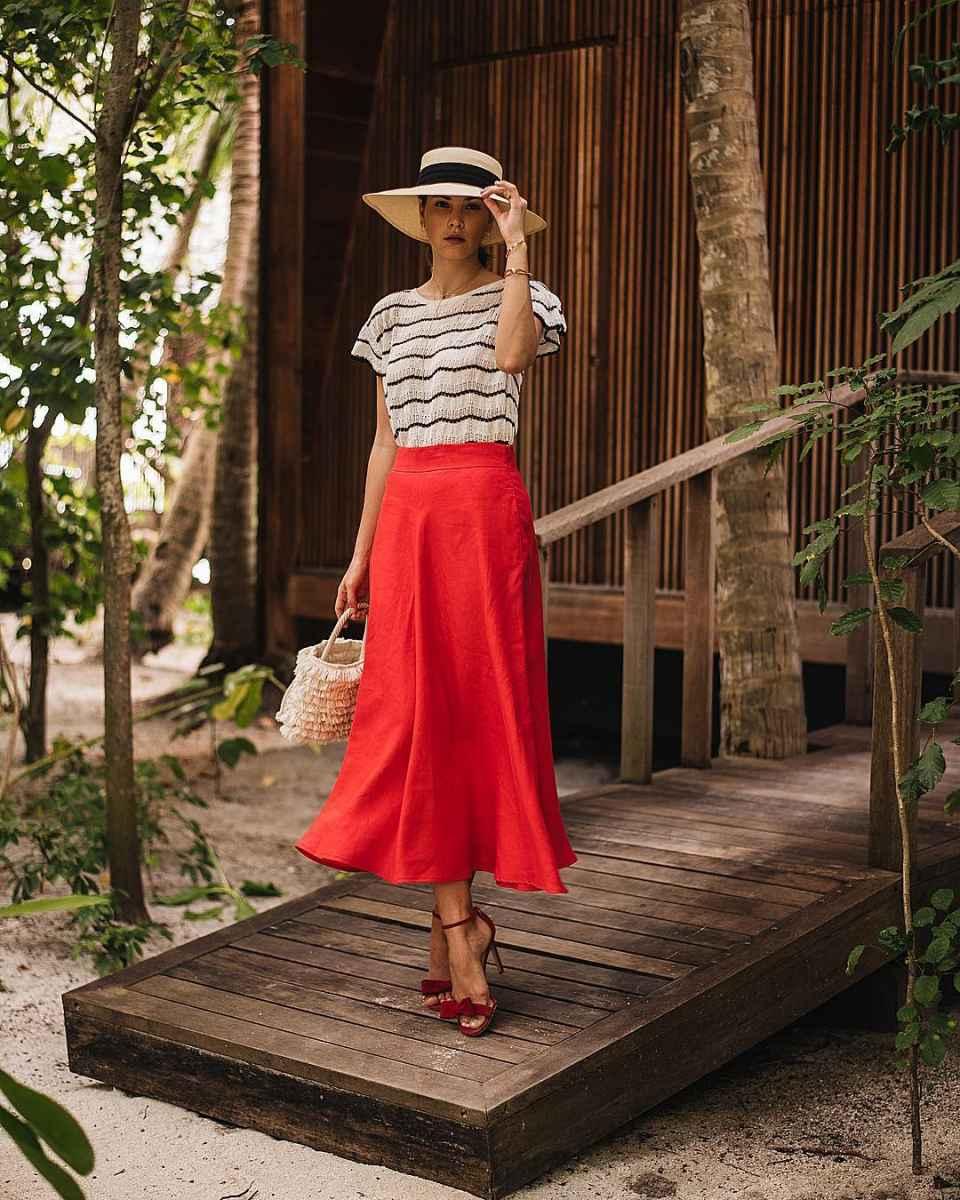 Красная юбка фото_4
