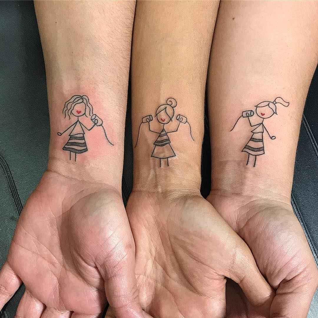 татуировки для сестер фото_16