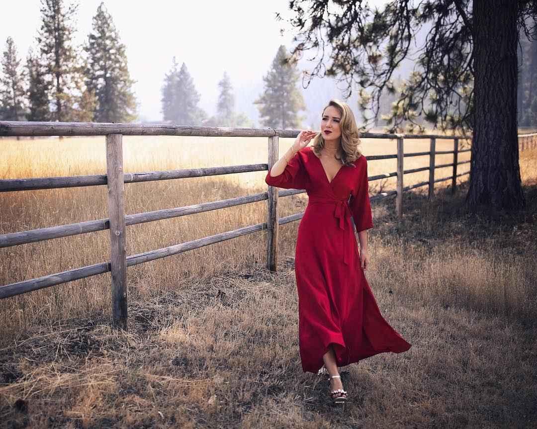 красное платье для лета фото_1