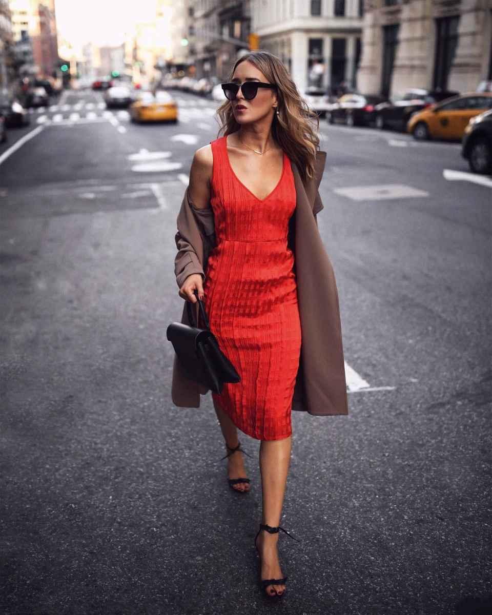 красное платье для лета фото_3
