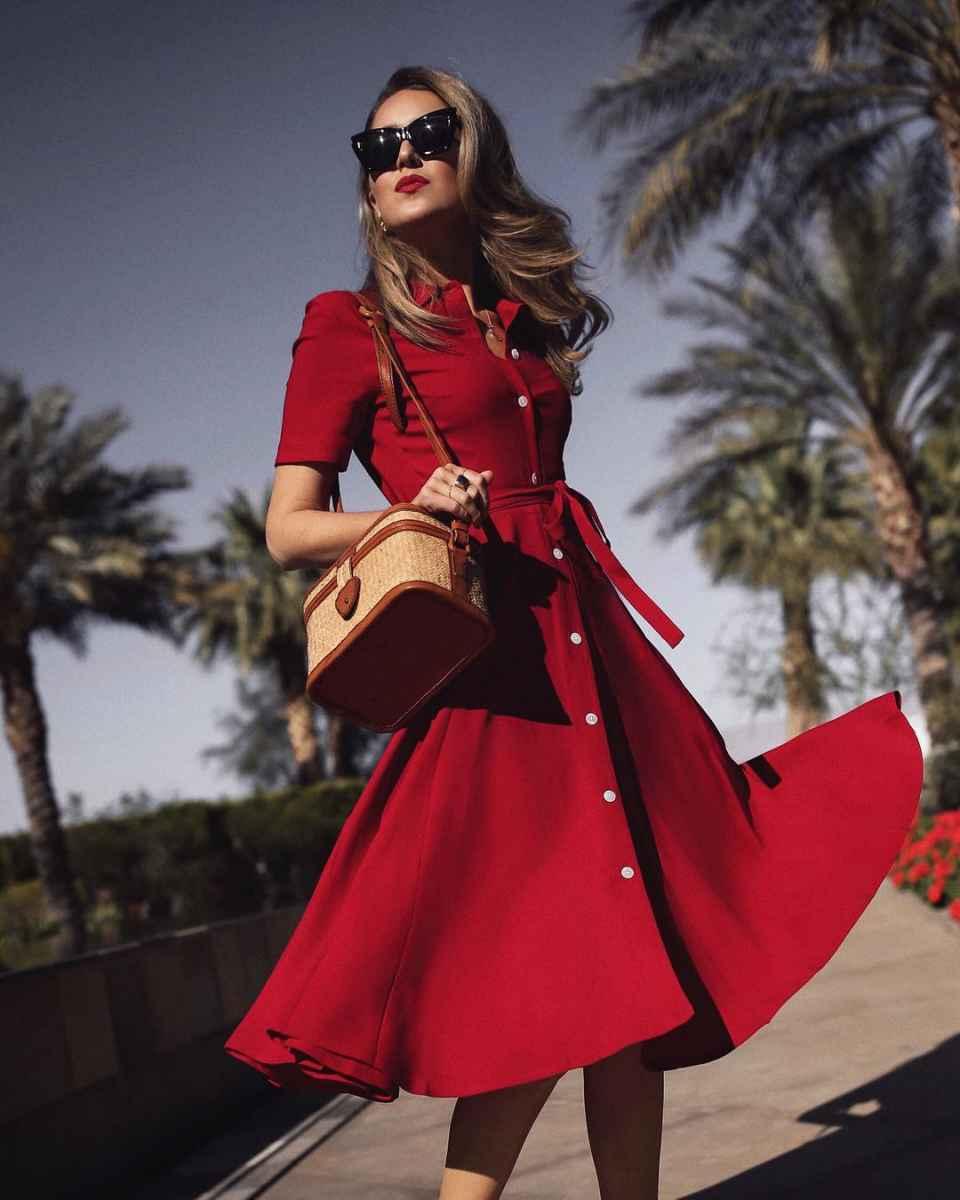 красное платье для лета фото_2
