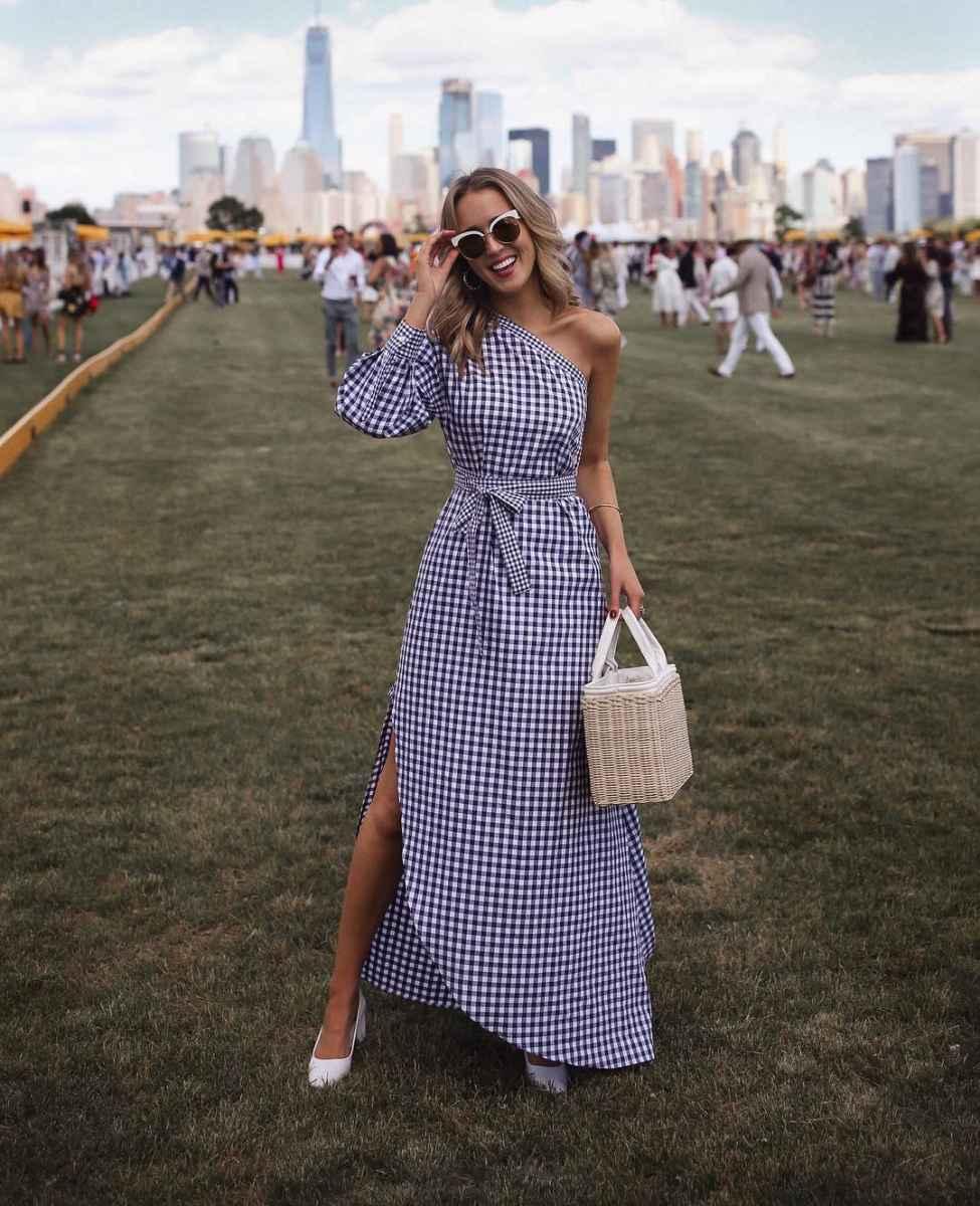 Модные летние платья в клетку фото_2