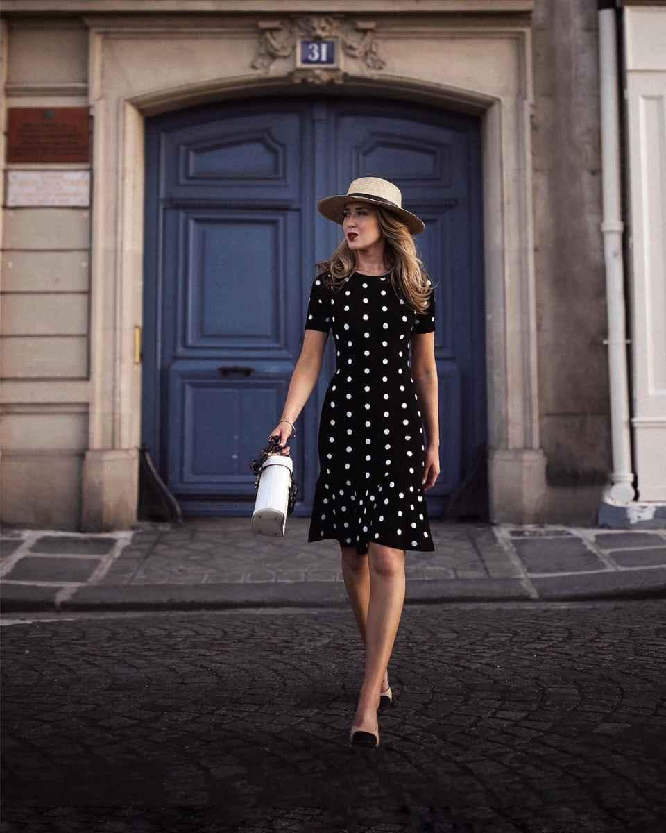 платье в горошек 2019 фото_2