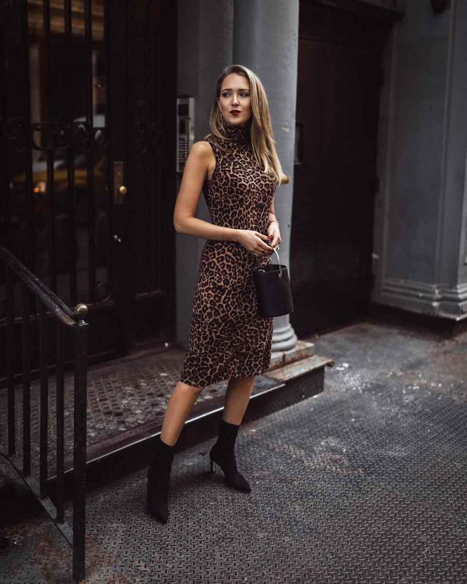 Платье с леопардовым принтом фото_1