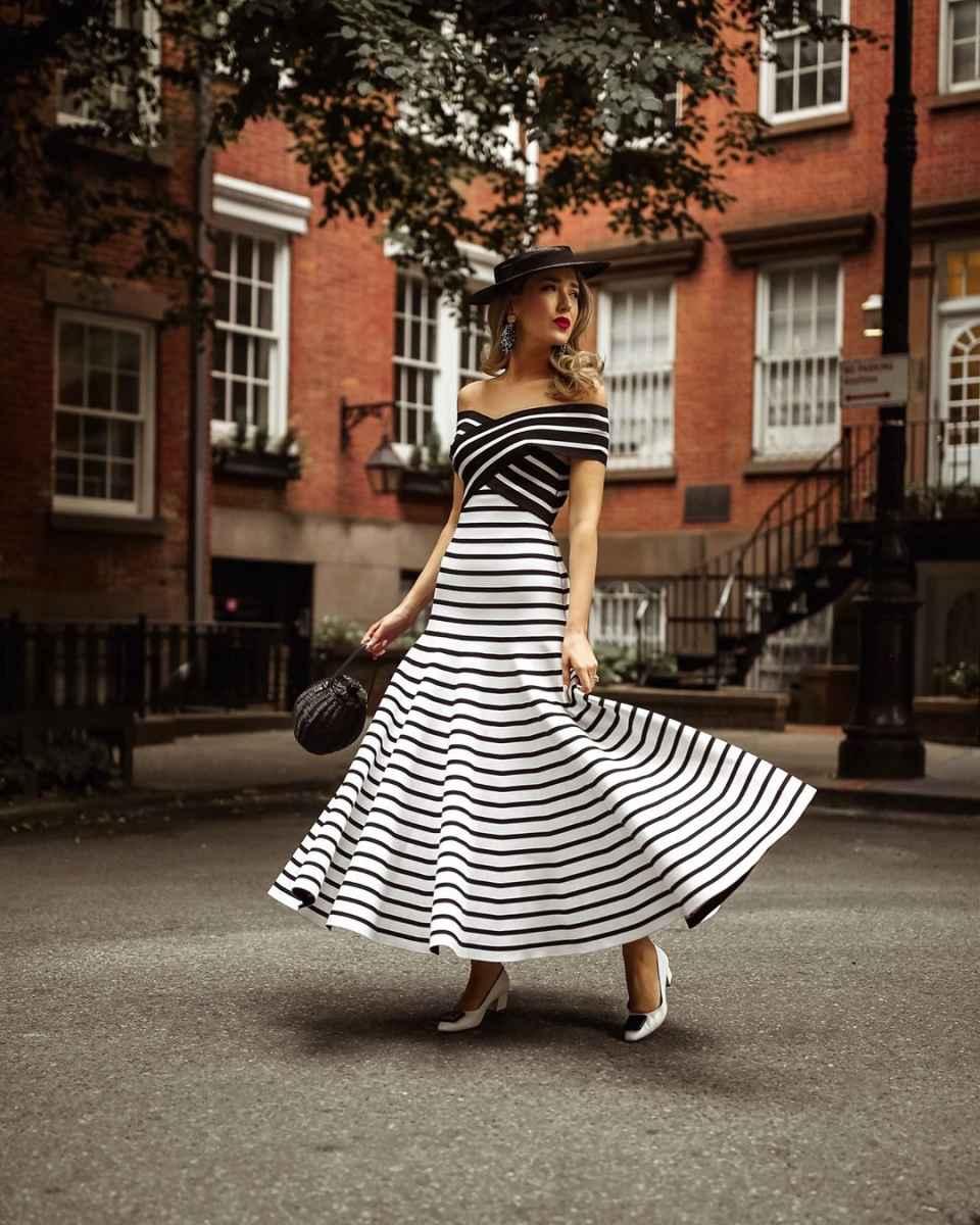 модное платье в полоску фото_2