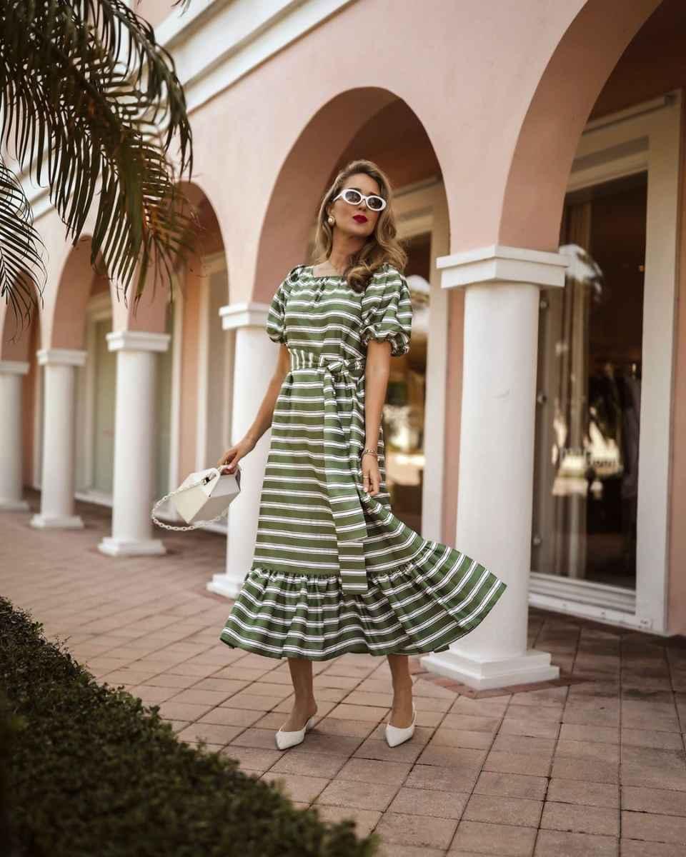 модное платье в полоску фото_1
