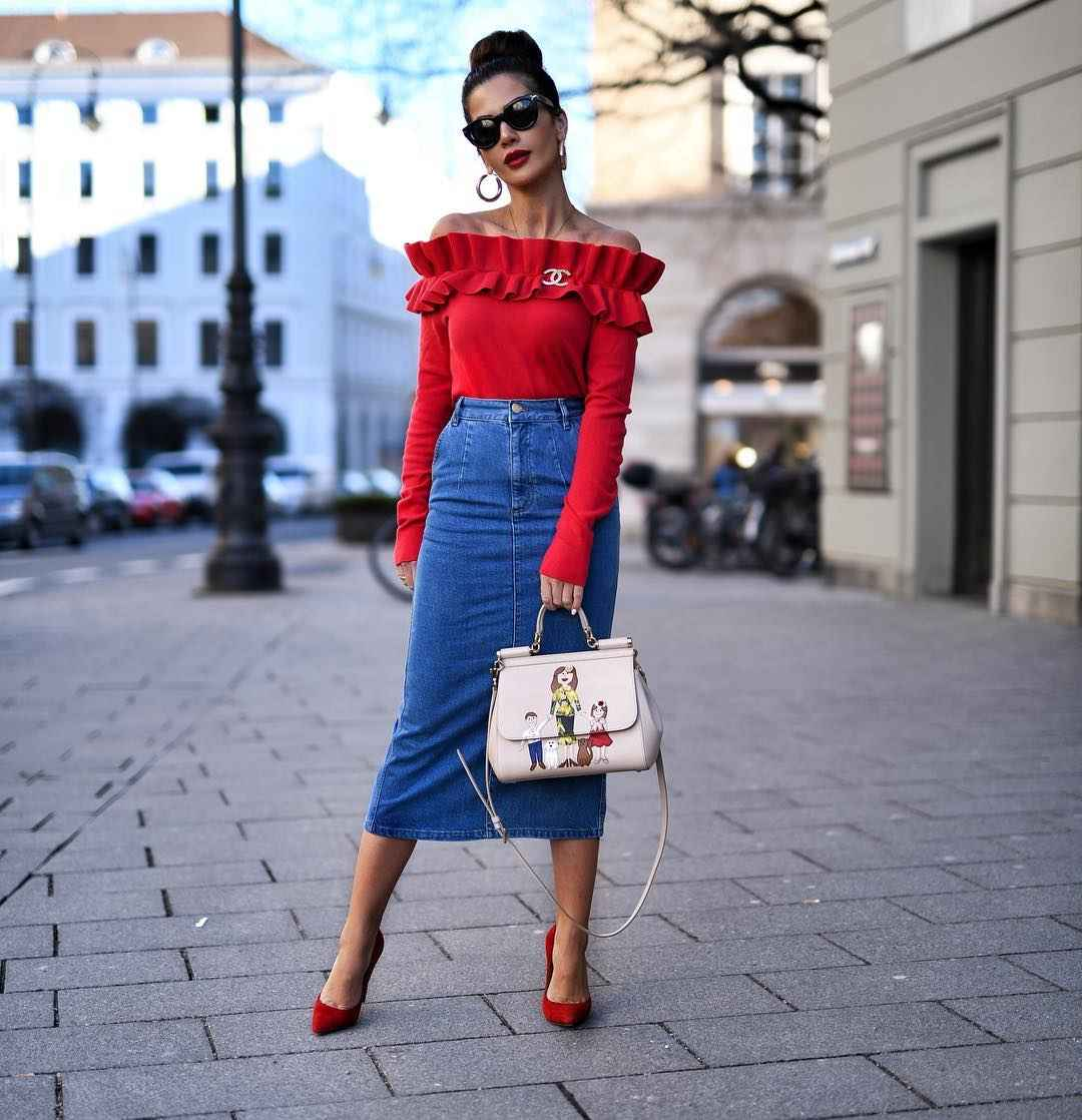 Джинсовая юбка фото_1