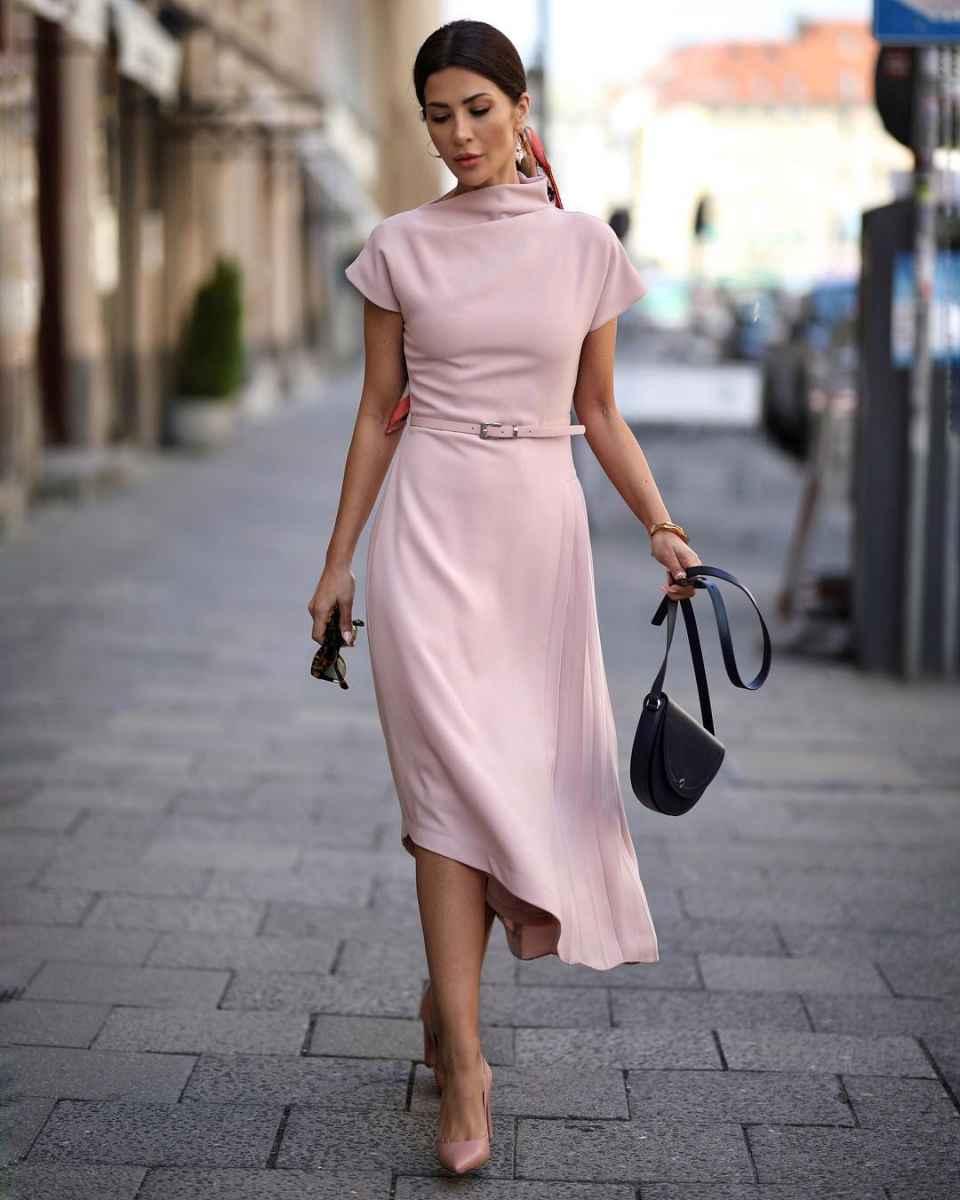 модные деловые платья фото_12