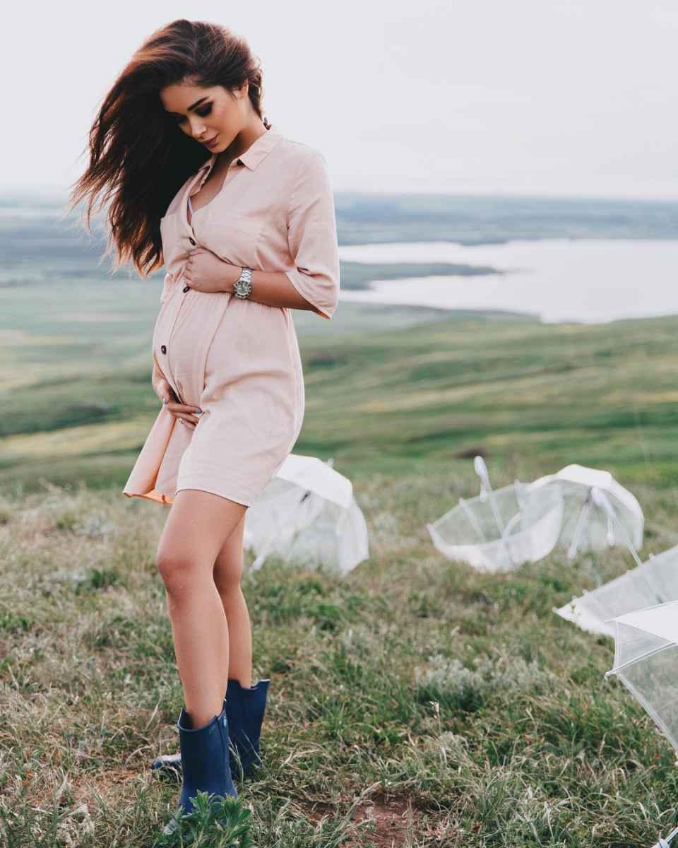 Мода для беременных весна-лето 2019 фото_35
