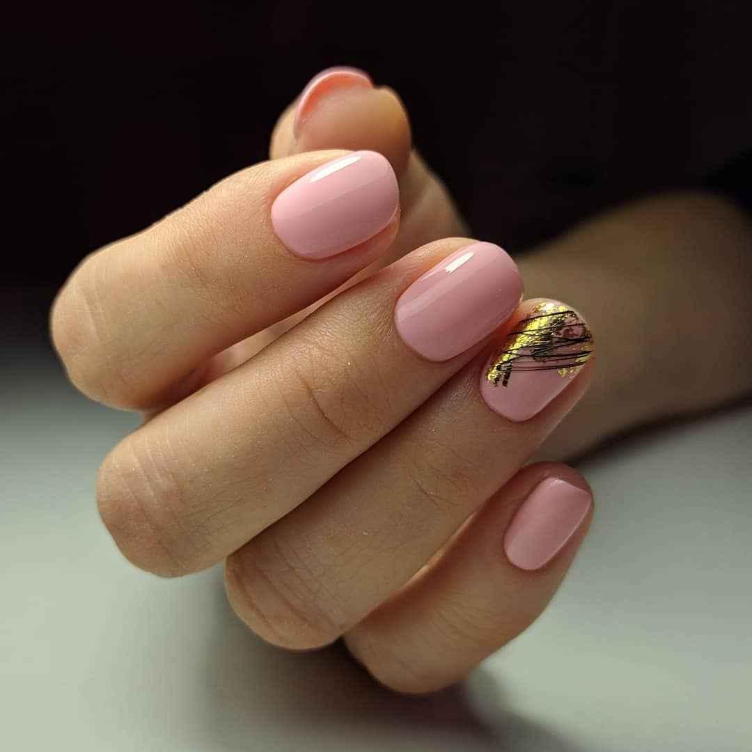 Маникюр паутинка на короткие ногти фото_16