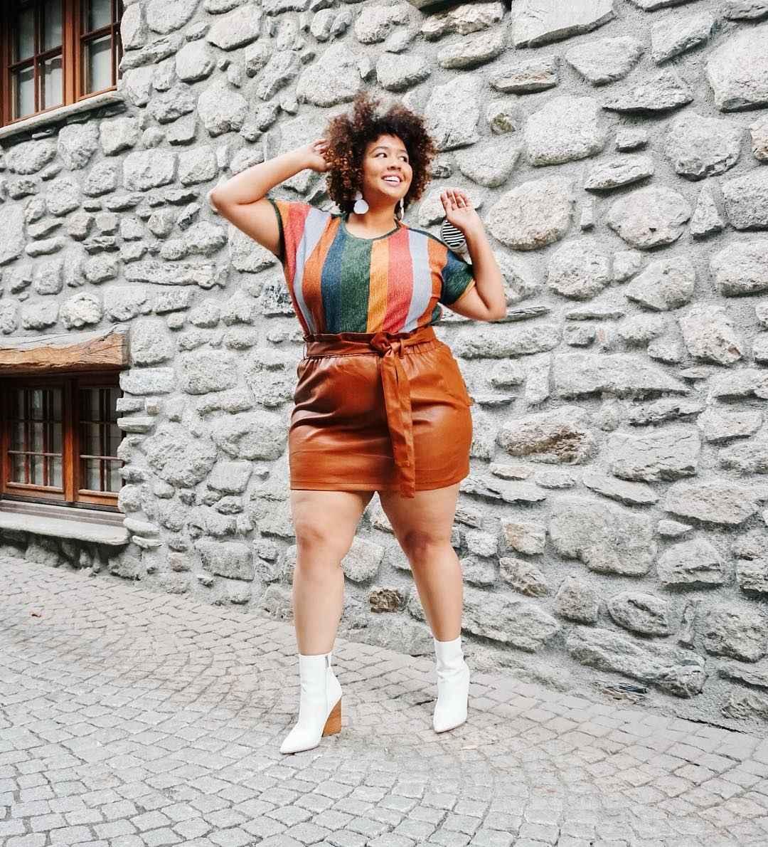 Модные луки для полных женщин лето 2019 фото_34