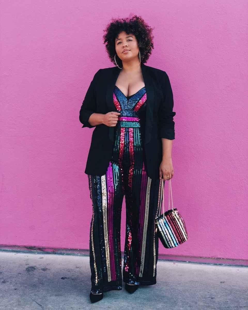 Модные луки для полных женщин лето 2019 фото_35