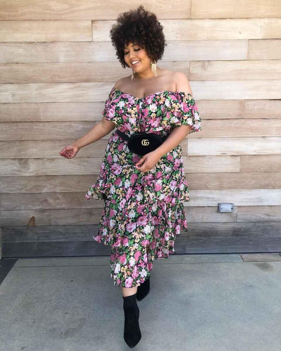 Модные луки для полных женщин лето 2019 фото_36