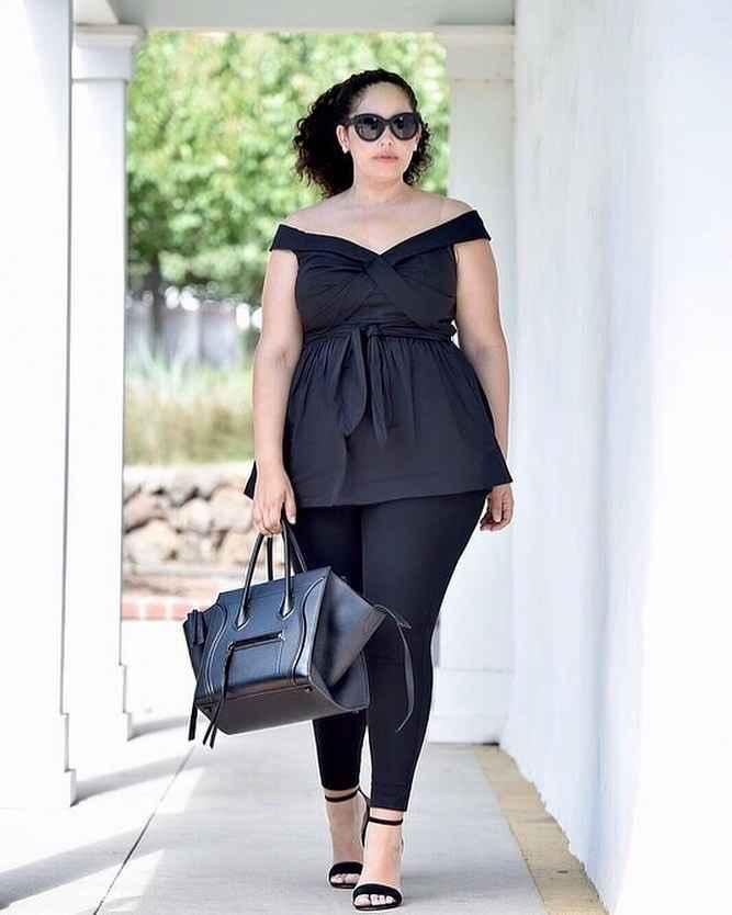 Модные луки для полных женщин лето 2019 фото_1