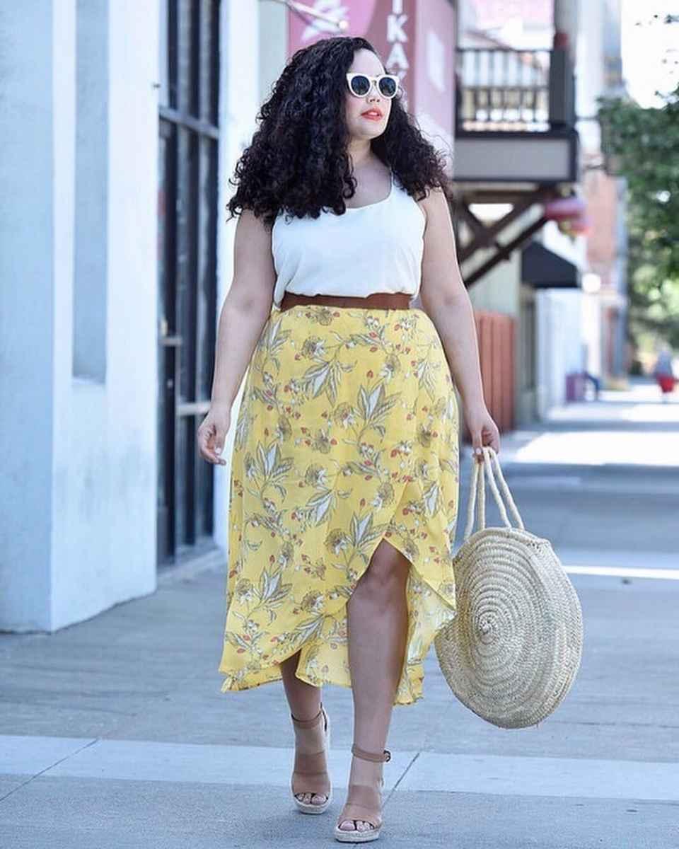 Модные луки для полных женщин лето 2019 фото_2