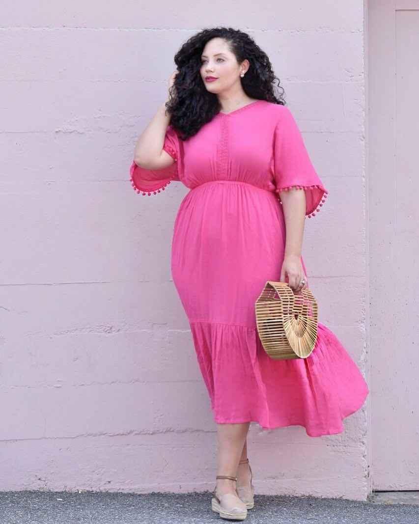 Модные луки для полных женщин лето 2019 фото_3