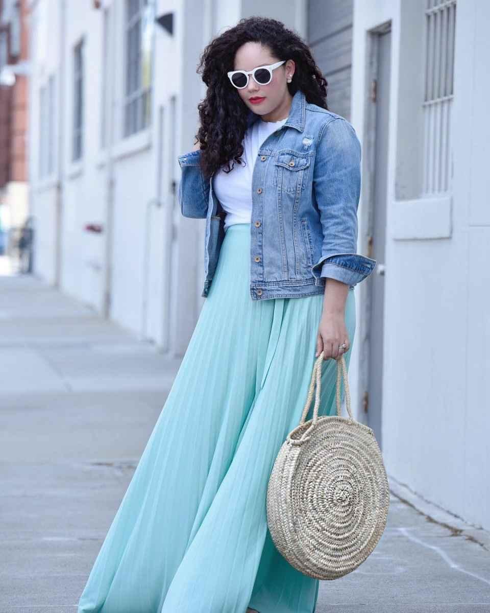 Модные луки для полных женщин лето 2019 фото_5