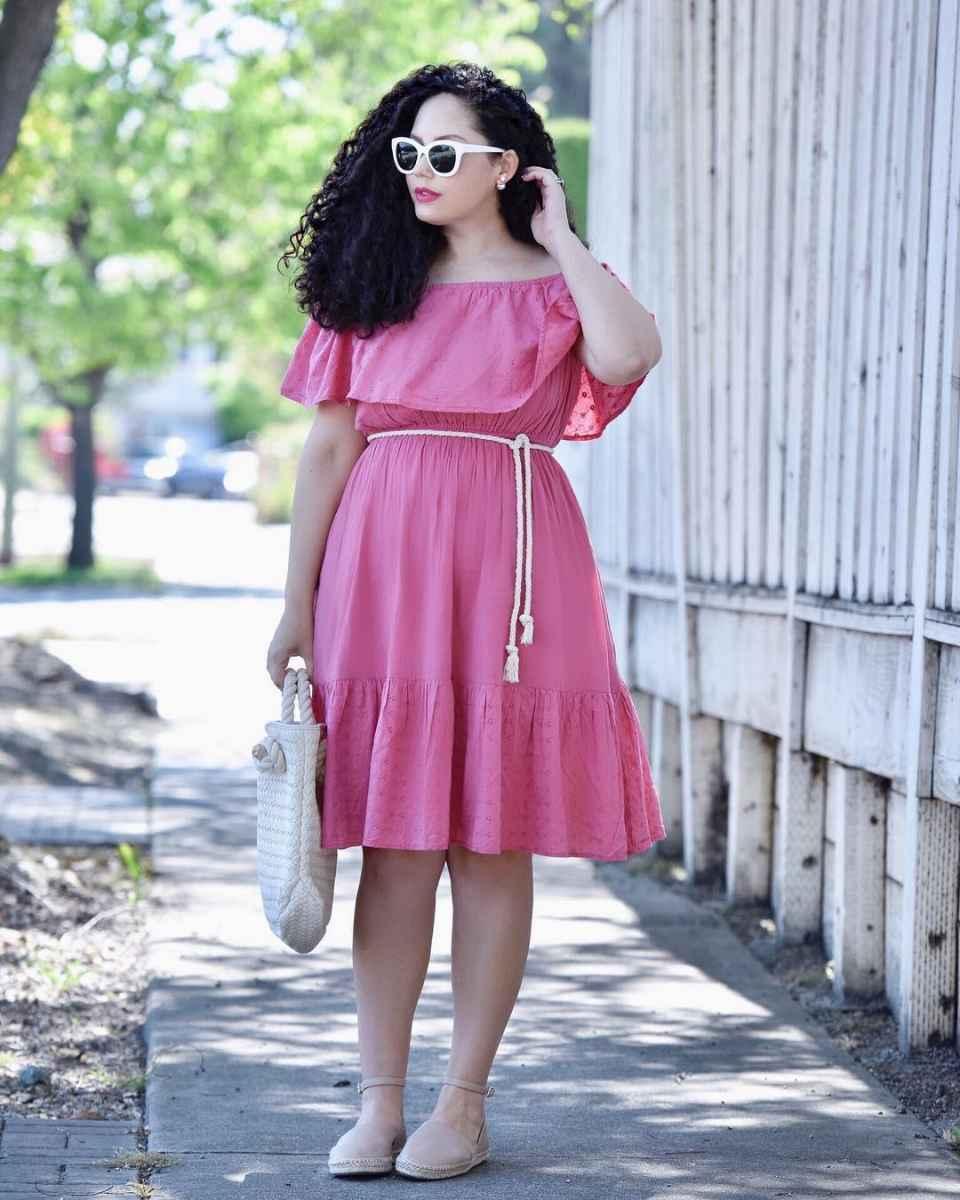 Модные луки для полных женщин лето 2019 фото_6