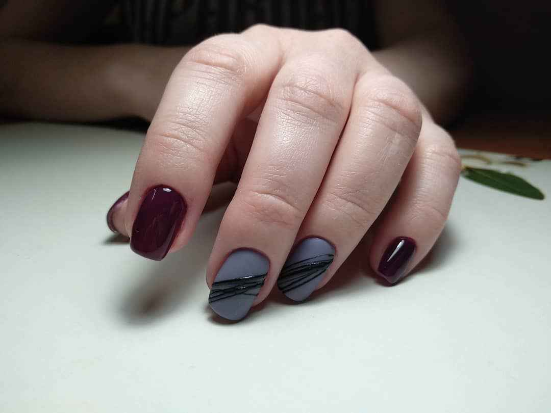Маникюр паутинка на короткие ногти фото_56
