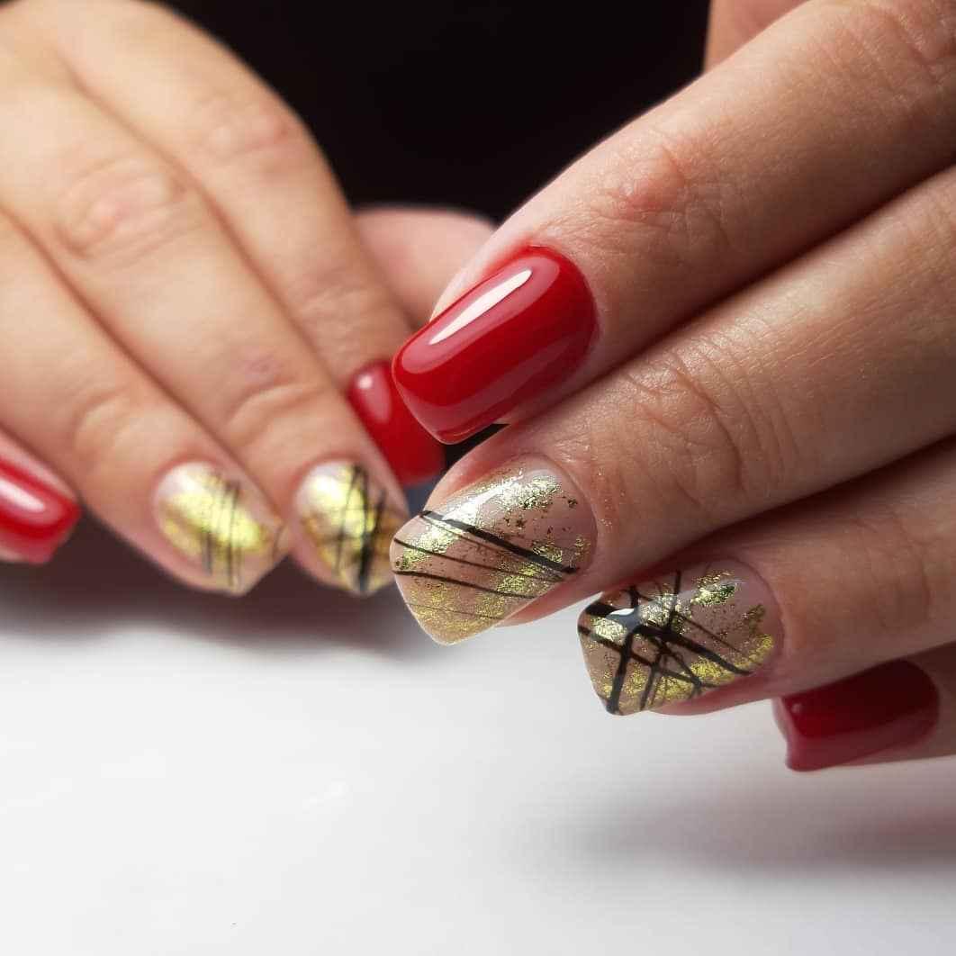 Маникюр паутинка на короткие ногти фото_28