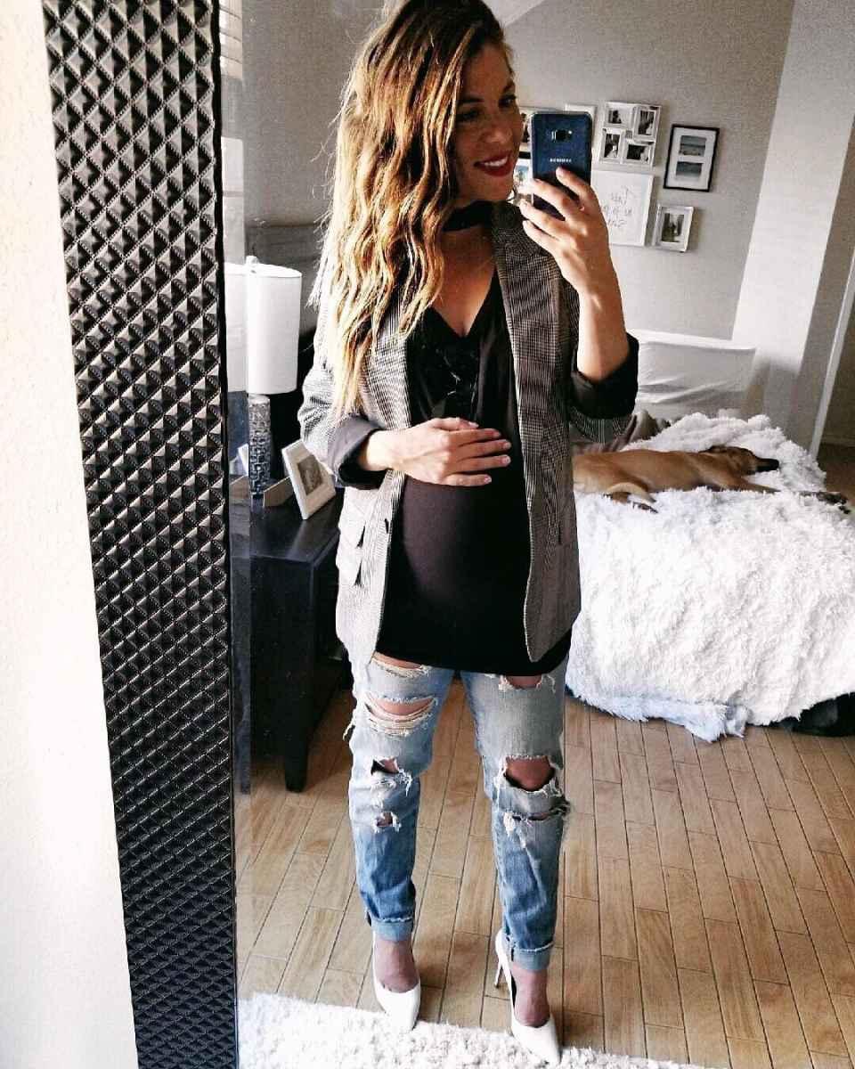 Мода для беременных весна-лето 2019 фото_56
