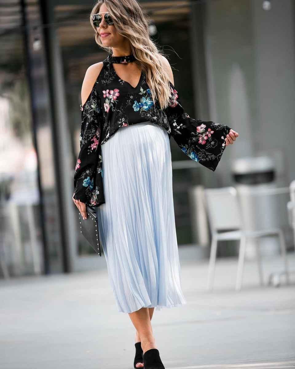 Мода для беременных весна-лето 2019 фото_58