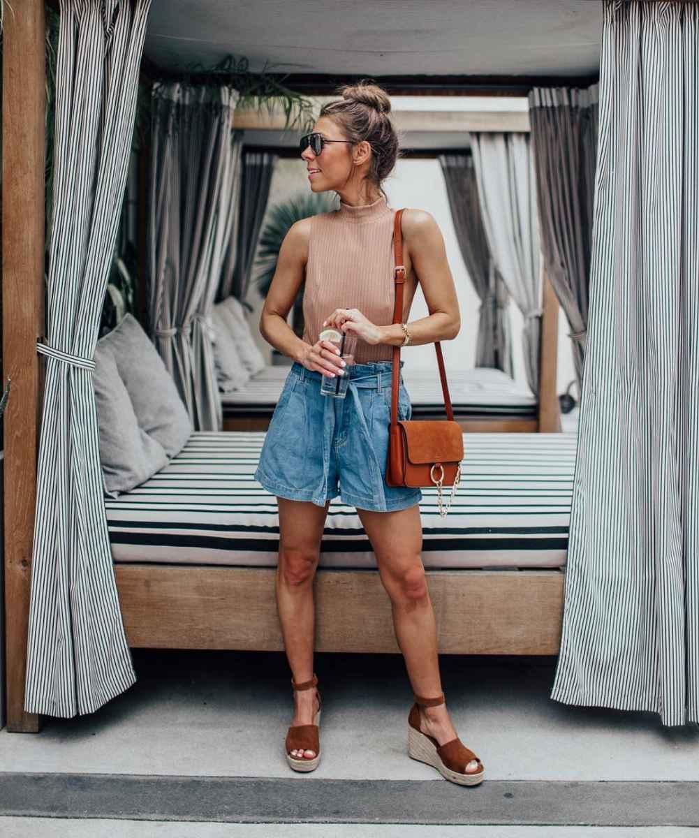 Модные шорты лето 2019 фото_30