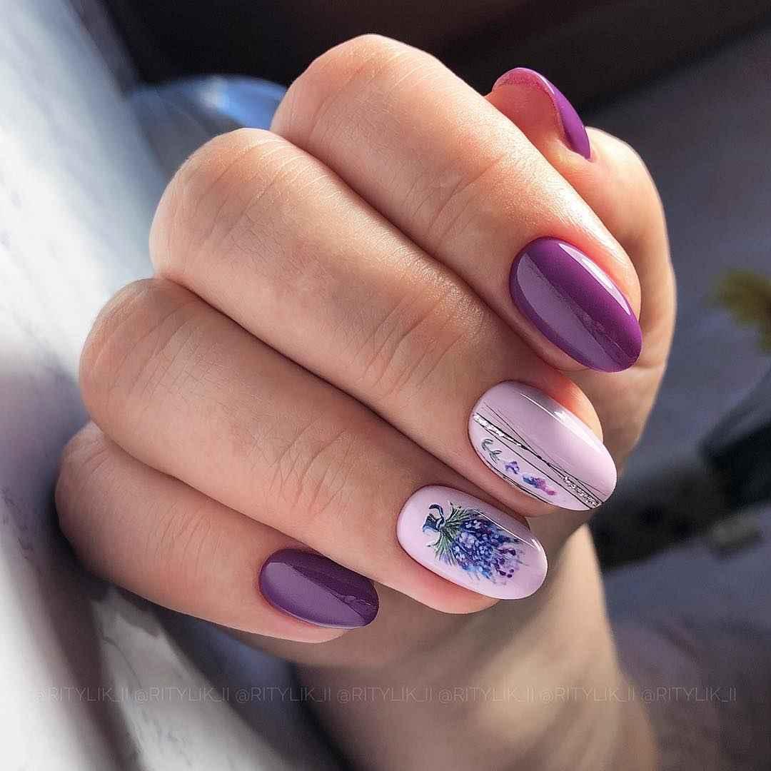 Маникюр паутинка на короткие ногти фото_50