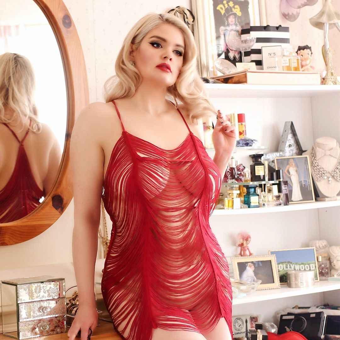 Красивое женское белье для полных фото идеи_23