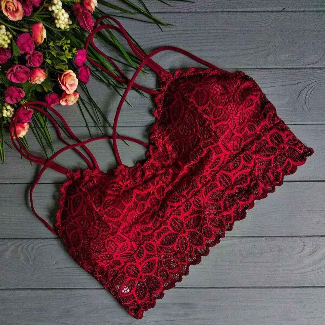 Красивое красное женское белье фото_16