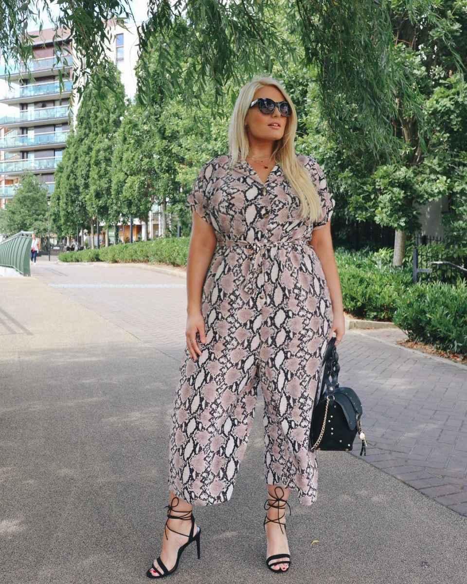 Модные луки для полных женщин лето 2019 фото_9