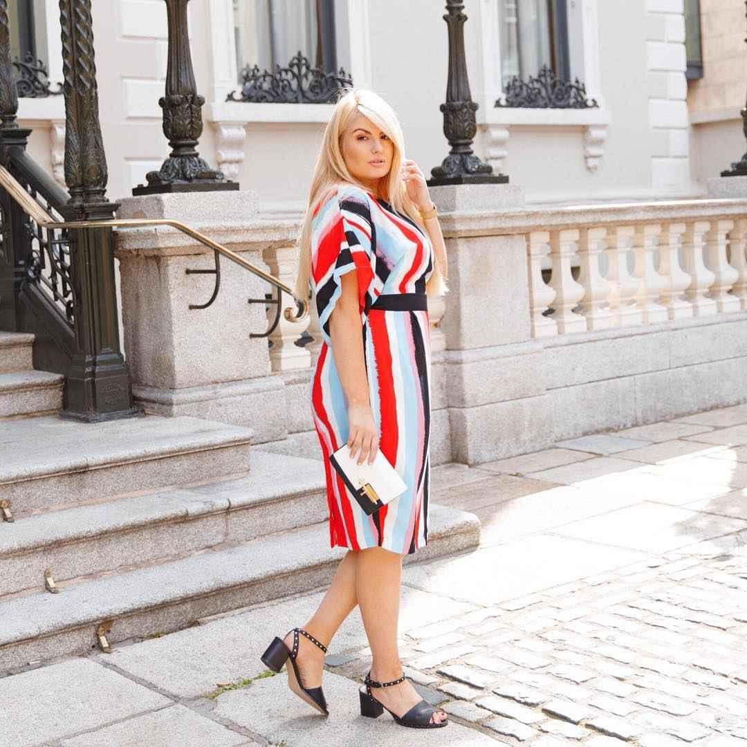 Мода для полных женщин лето 2019 фото идеи_12